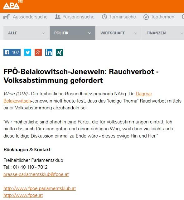 Belakowitsch in Schon vergesslich, Frau Belakowitsch?